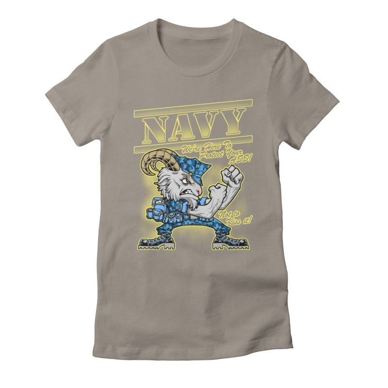 NAVY GOAT! Women's Fitted T-Shirt by Inkdwell's Artist Shop