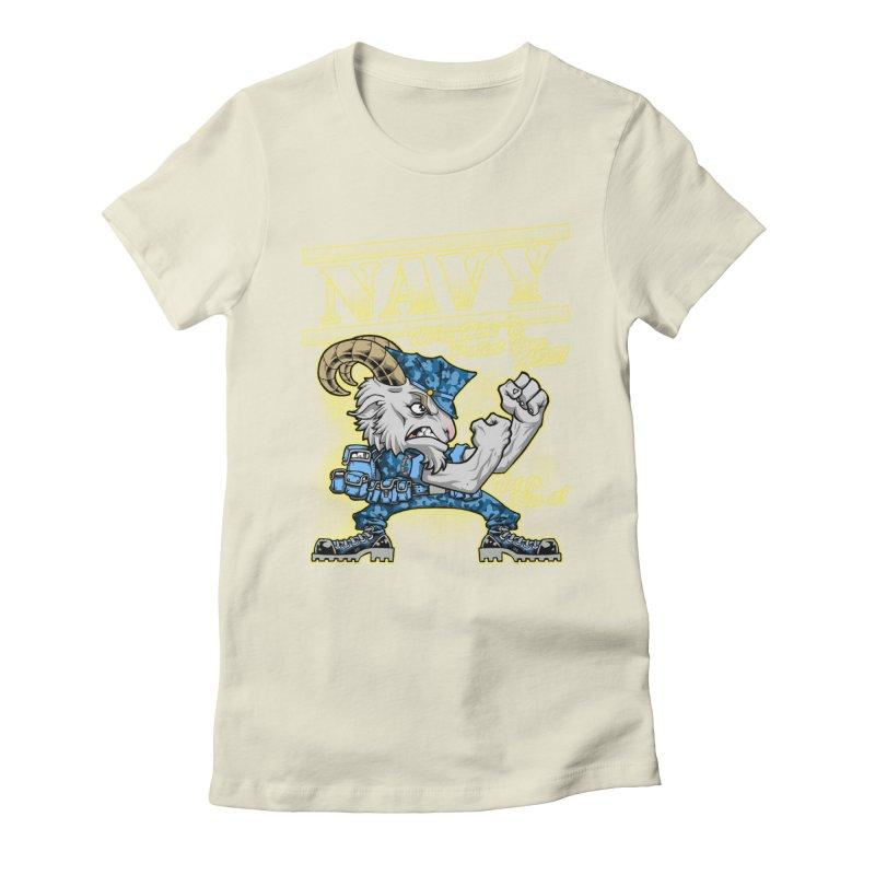 NAVY GOAT! Women's T-Shirt by Inkdwell's Artist Shop