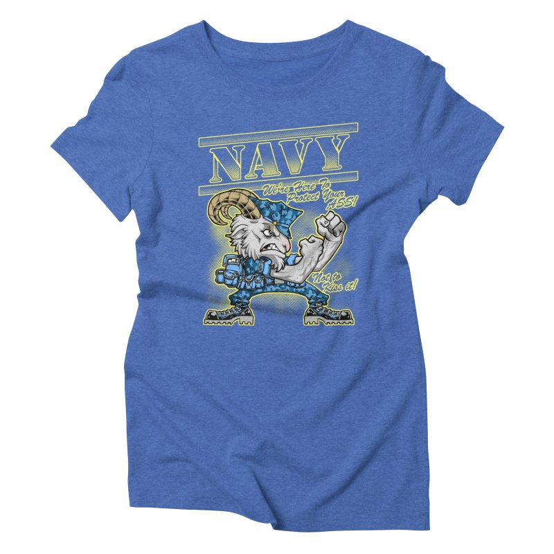 NAVY GOAT! Women's Triblend T-Shirt by Inkdwell's Artist Shop