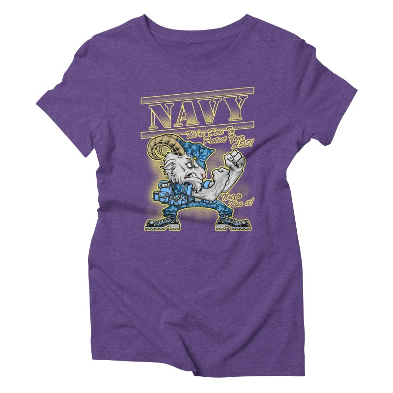 NAVY GOAT! Women's T-Shirt by Inkdwell's Artist Shop