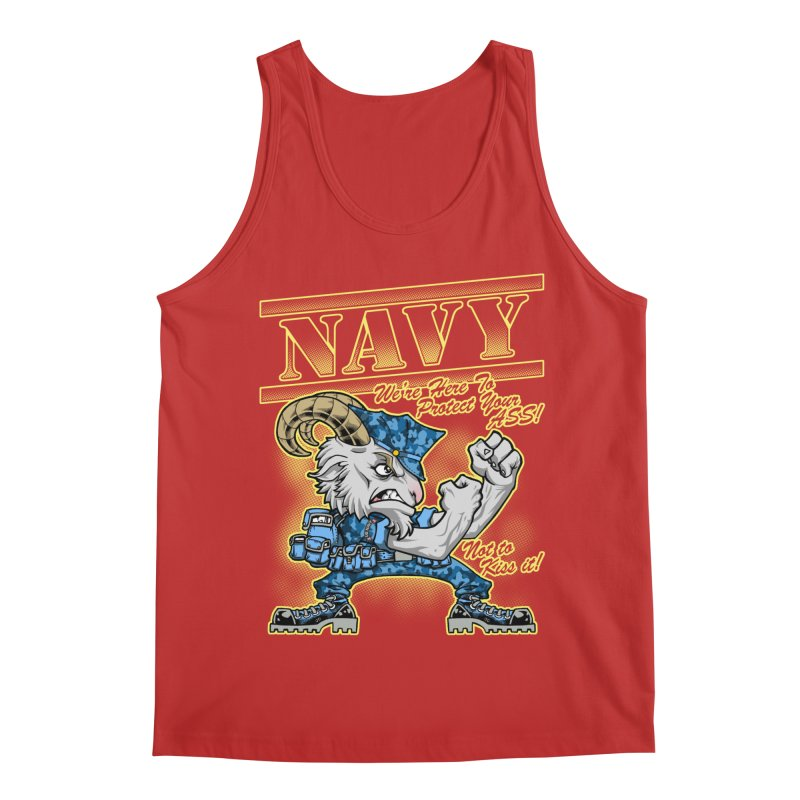 NAVY GOAT! Men's Regular Tank by Inkdwell's Artist Shop