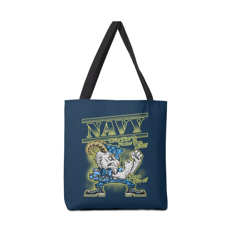 NAVY GOAT! Accessories Tote Bag Bag by Inkdwell's Artist Shop