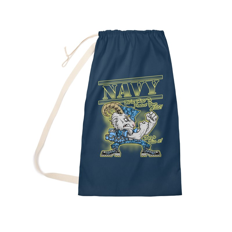 NAVY GOAT! Accessories Laundry Bag Bag by Inkdwell's Artist Shop