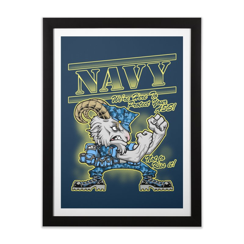 NAVY GOAT! Home Framed Fine Art Print by Inkdwell's Artist Shop