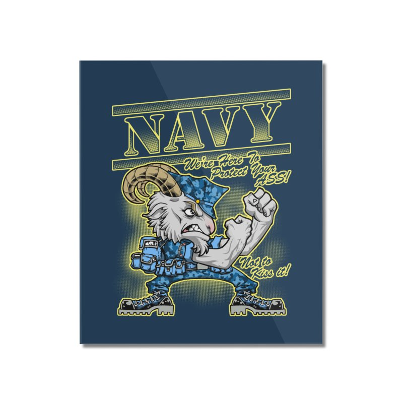 NAVY GOAT! Home Mounted Acrylic Print by Inkdwell's Artist Shop