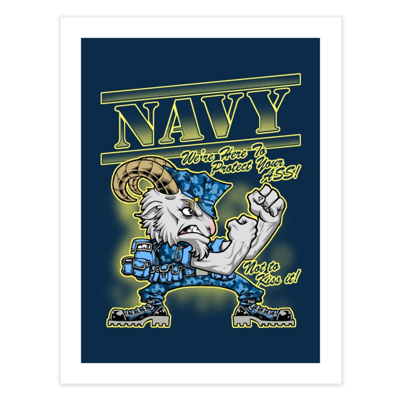 NAVY GOAT! Home Fine Art Print by Inkdwell's Artist Shop