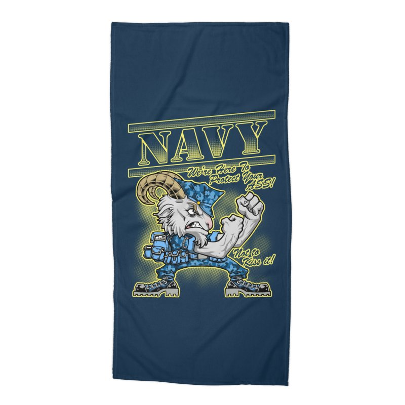 NAVY GOAT! Accessories Beach Towel by Inkdwell's Artist Shop