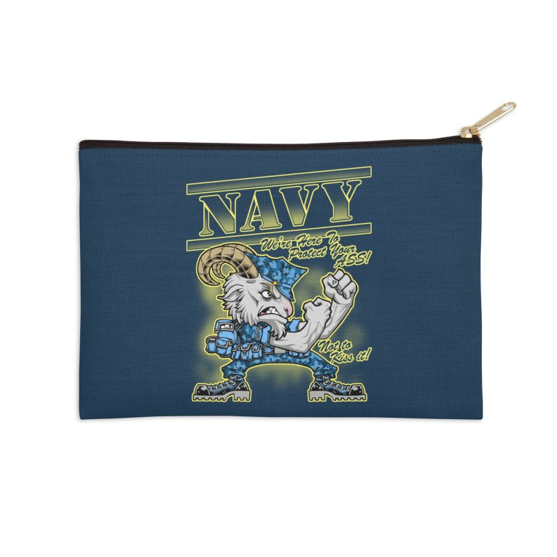 NAVY GOAT! Accessories Zip Pouch by Inkdwell's Artist Shop