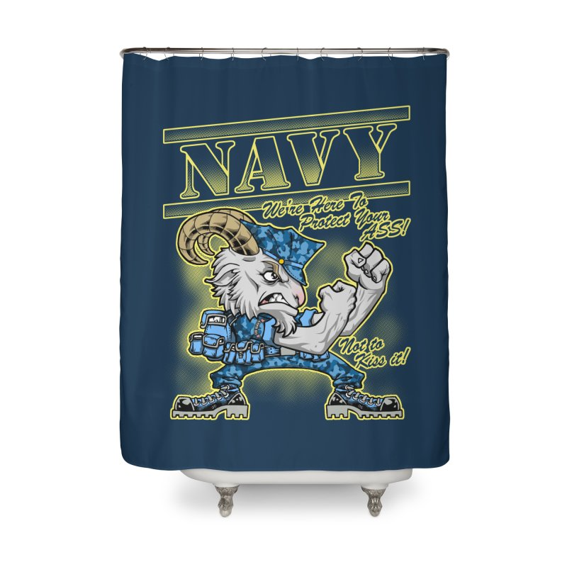 NAVY GOAT! Home Shower Curtain by Inkdwell's Artist Shop