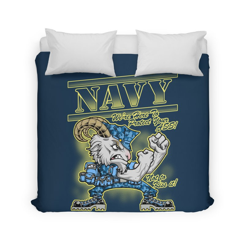NAVY GOAT! Home Duvet by Inkdwell's Artist Shop