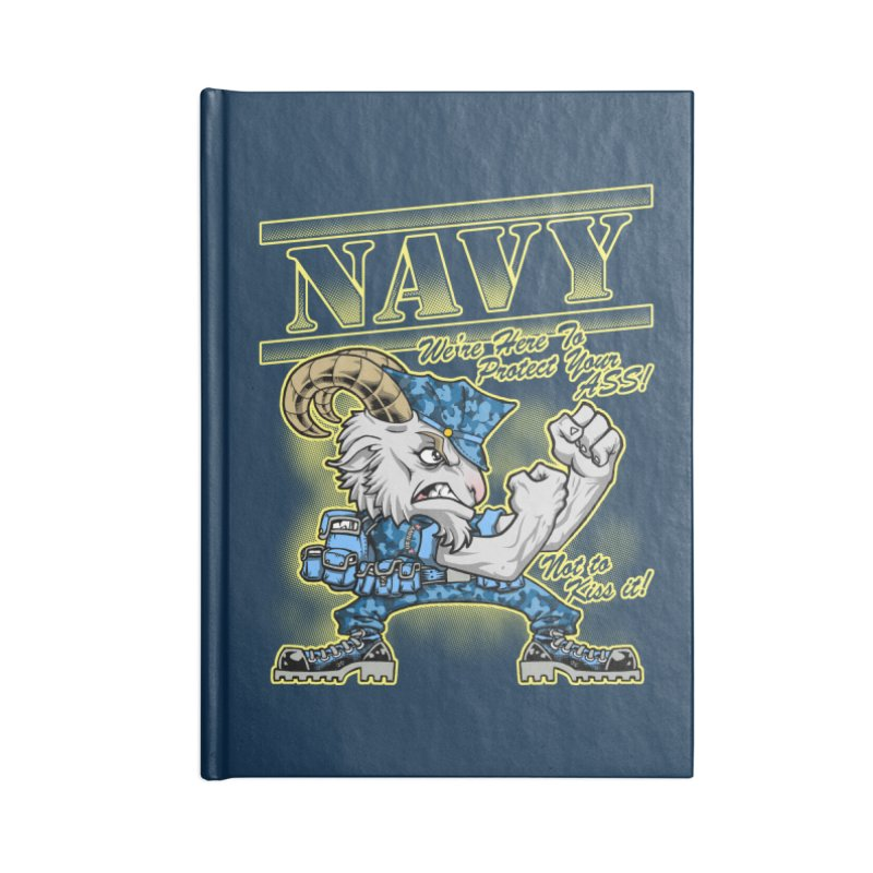 NAVY GOAT! Accessories Notebook by Inkdwell's Artist Shop