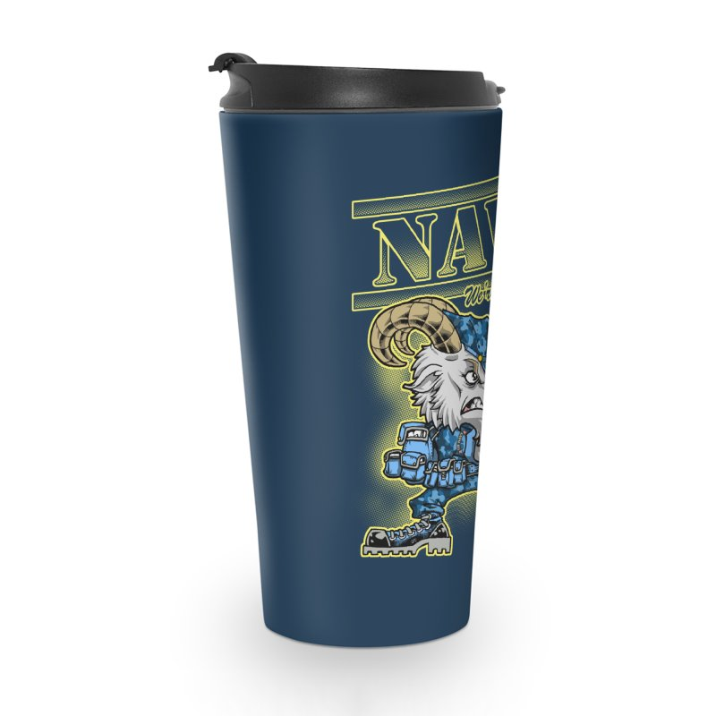 NAVY GOAT! Accessories Travel Mug by Inkdwell's Artist Shop