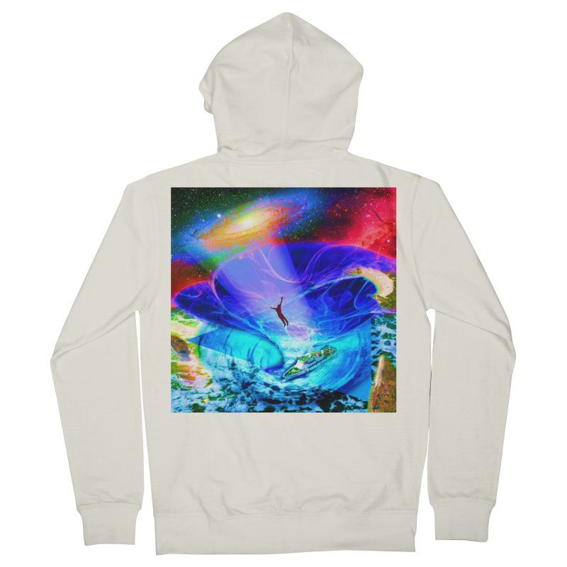 Bermuda Triangle Women's French Terry Zip-Up Hoody by InspiredPsychedelics's Artist Shop