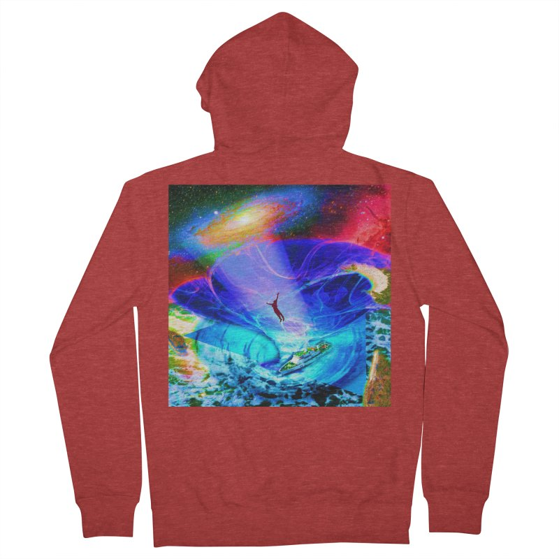 Bermuda Triangle Men's French Terry Zip-Up Hoody by InspiredPsychedelics's Artist Shop