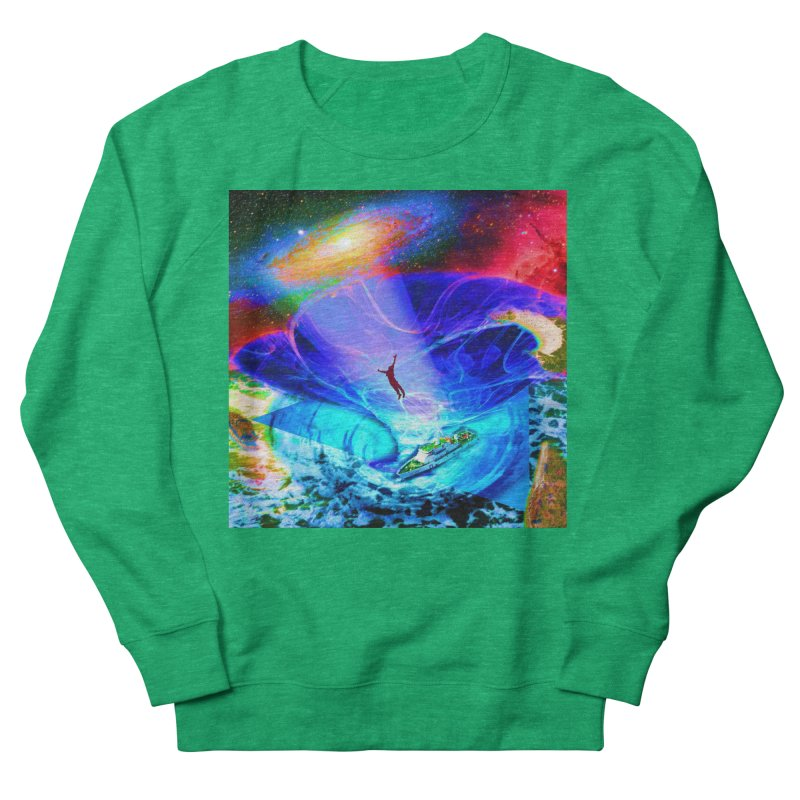 Bermuda Triangle Men's French Terry Sweatshirt by InspiredPsychedelics's Artist Shop