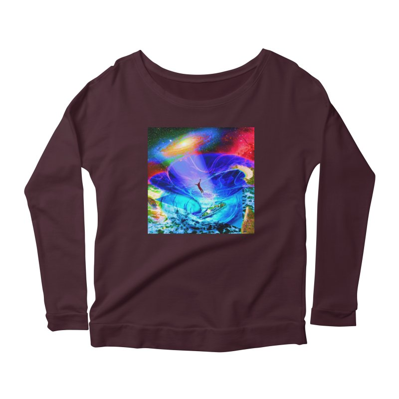 Bermuda Triangle Women's Scoop Neck Longsleeve T-Shirt by InspiredPsychedelics's Artist Shop