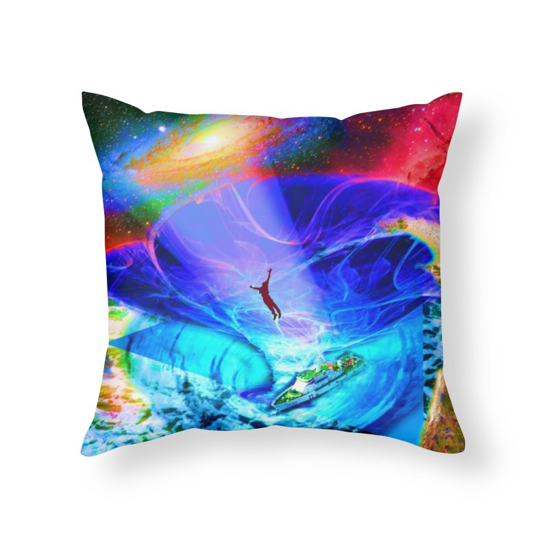 Bermuda Triangle Home Throw Pillow by InspiredPsychedelics's Artist Shop