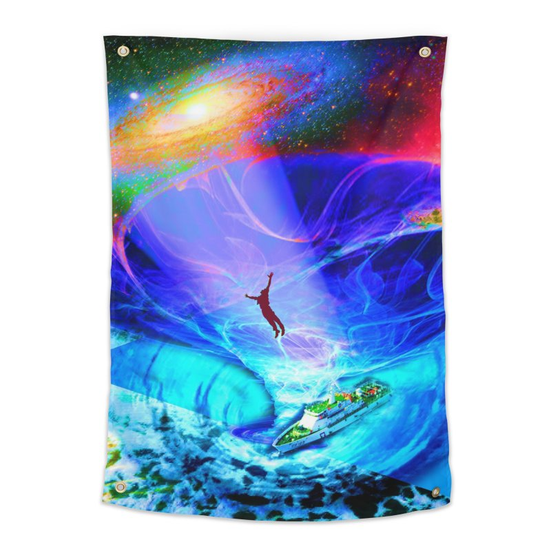 Bermuda Triangle Home Tapestry by InspiredPsychedelics's Artist Shop