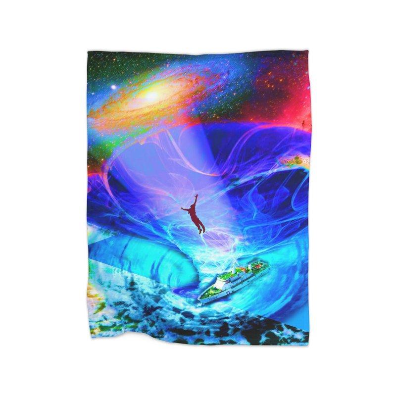 Bermuda Triangle Home Fleece Blanket Blanket by InspiredPsychedelics's Artist Shop