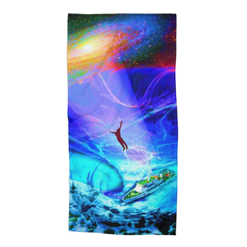 Bermuda Triangle Accessories Beach Towel by InspiredPsychedelics's Artist Shop
