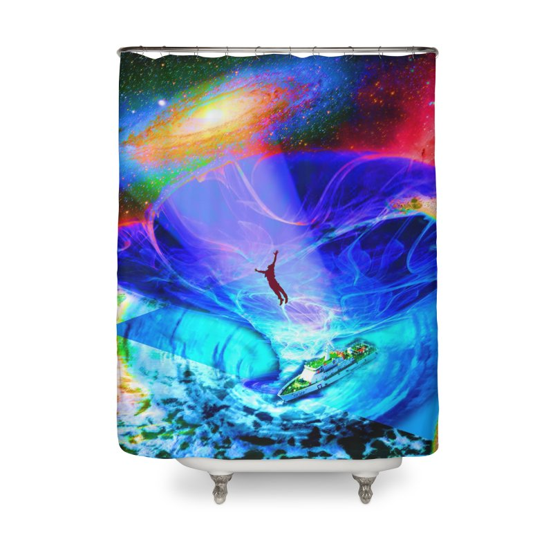 Bermuda Triangle Home Shower Curtain by InspiredPsychedelics's Artist Shop