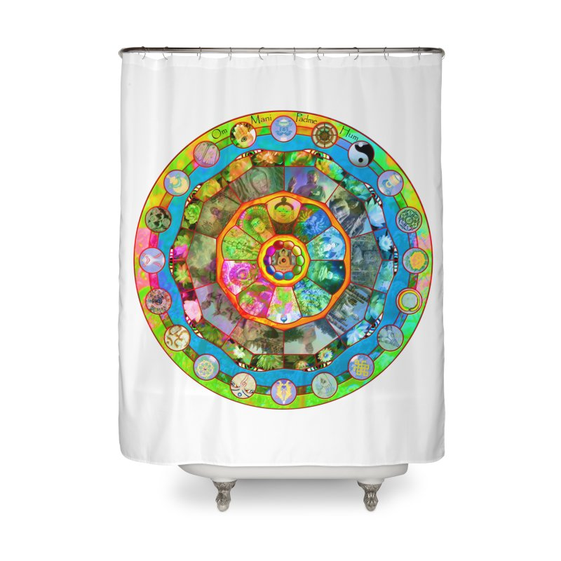 Buddhism Mandala Home Shower Curtain by InspiredPsychedelics's Artist Shop