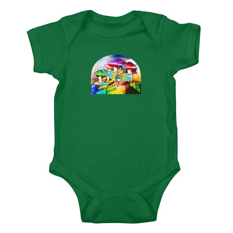 Spanish Castle Magic Kids Baby Bodysuit by InspiredPsychedelics's Artist Shop