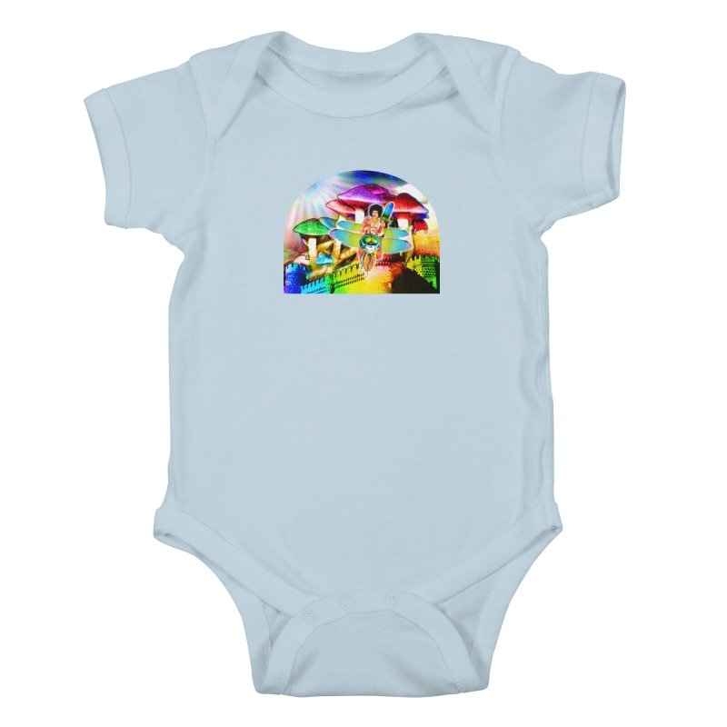 Spanish Castle Magic Kids Baby Bodysuit by InspiredPsychedelics's Artist Shop