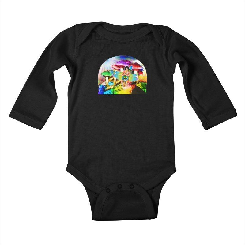 Spanish Castle Magic Kids Baby Longsleeve Bodysuit by InspiredPsychedelics's Artist Shop