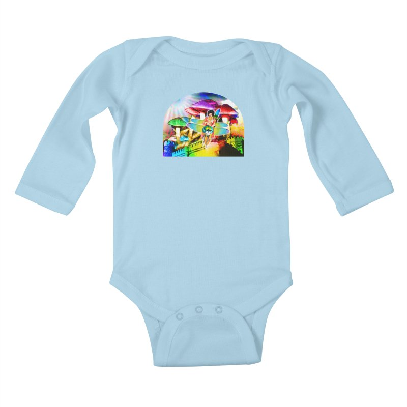 Spanish Castle Magic Kids Baby Longsleeve Bodysuit by InspiredPsychedelics's Artist Shop