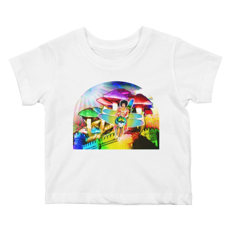 Spanish Castle Magic Kids Baby T-Shirt by InspiredPsychedelics's Artist Shop