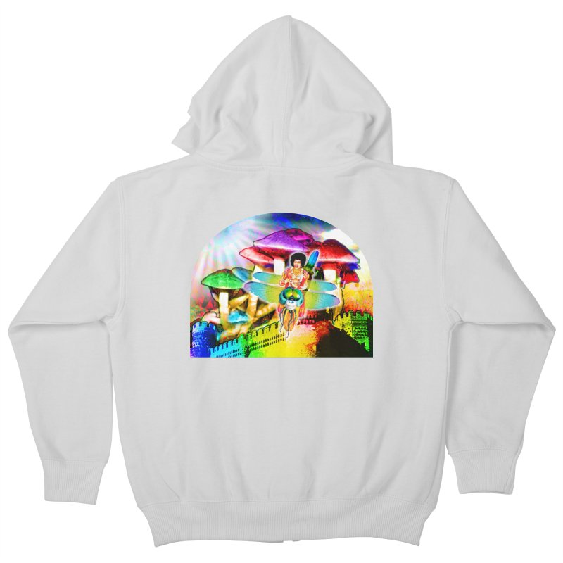 Spanish Castle Magic Kids Zip-Up Hoody by InspiredPsychedelics's Artist Shop