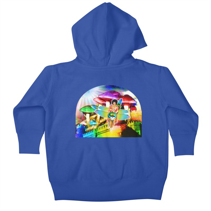 Spanish Castle Magic Kids Baby Zip-Up Hoody by InspiredPsychedelics's Artist Shop