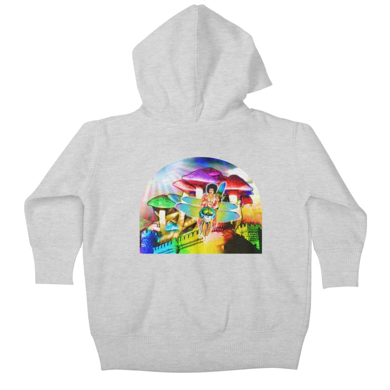 Spanish Castle Magic Kids Baby Zip-Up Hoody by InspiredPsychedelics's Artist Shop