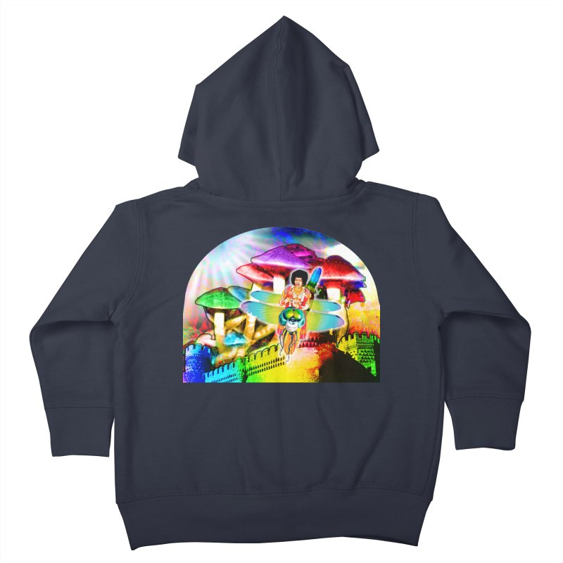 Spanish Castle Magic Kids Toddler Zip-Up Hoody by InspiredPsychedelics's Artist Shop