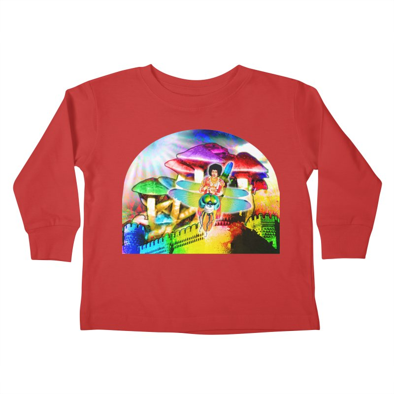 Spanish Castle Magic Kids Toddler Longsleeve T-Shirt by InspiredPsychedelics's Artist Shop