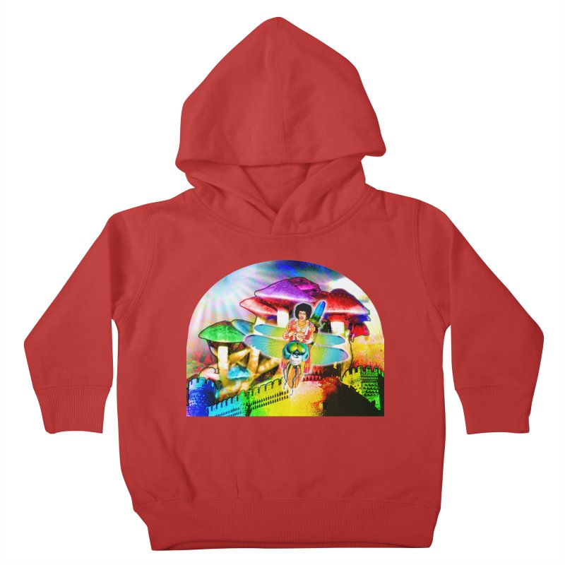 Spanish Castle Magic Kids Toddler Pullover Hoody by InspiredPsychedelics's Artist Shop