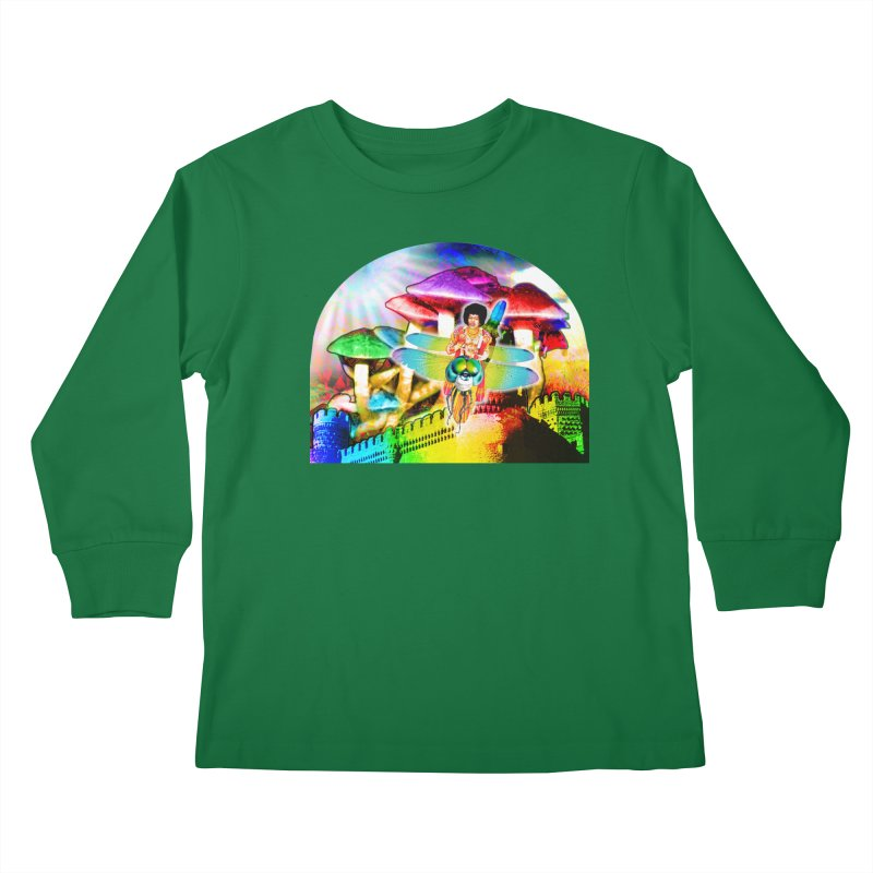 Spanish Castle Magic Kids Longsleeve T-Shirt by InspiredPsychedelics's Artist Shop