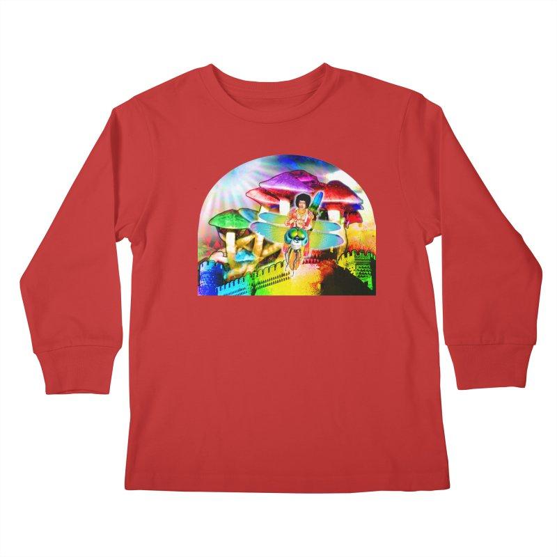 Spanish Castle Magic Kids Longsleeve T-Shirt by InspiredPsychedelics's Artist Shop