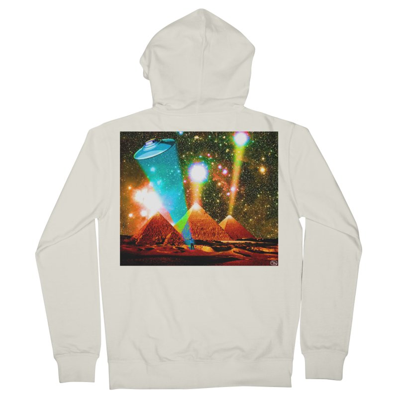 The Pyramids of Giza Aligning with Orion's Belt Women's French Terry Zip-Up Hoody by InspiredPsychedelics's Artist Shop
