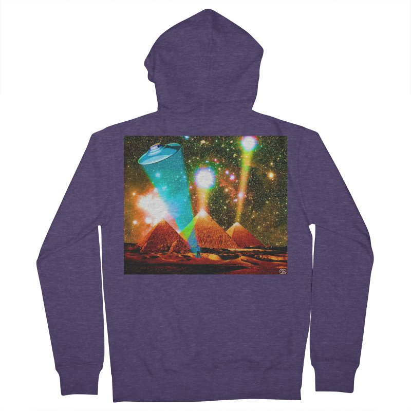The Pyramids of Giza Aligning with Orion's Belt Men's French Terry Zip-Up Hoody by InspiredPsychedelics's Artist Shop