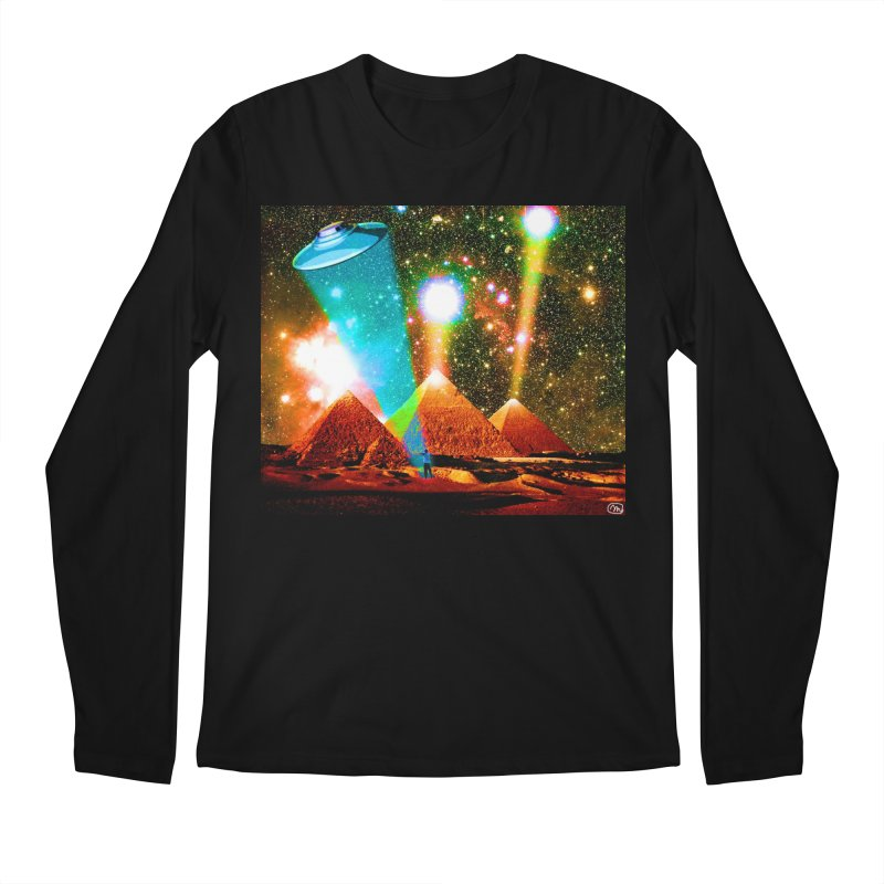 The Pyramids of Giza Aligning with Orion's Belt Men's Regular Longsleeve T-Shirt by InspiredPsychedelics's Artist Shop
