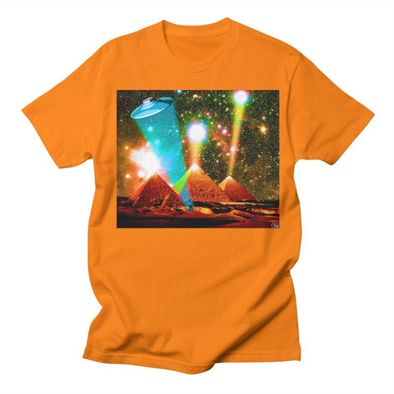 The Pyramids of Giza Aligning with Orion's Belt Men's Regular T-Shirt by InspiredPsychedelics's Artist Shop