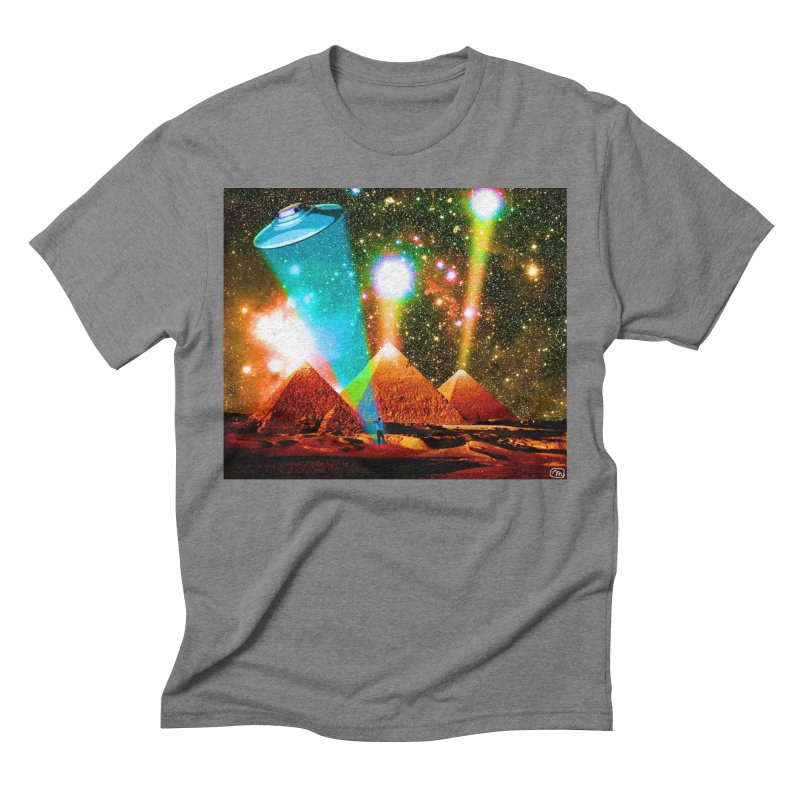 The Pyramids of Giza Aligning with Orion's Belt Men's Triblend T-Shirt by InspiredPsychedelics's Artist Shop