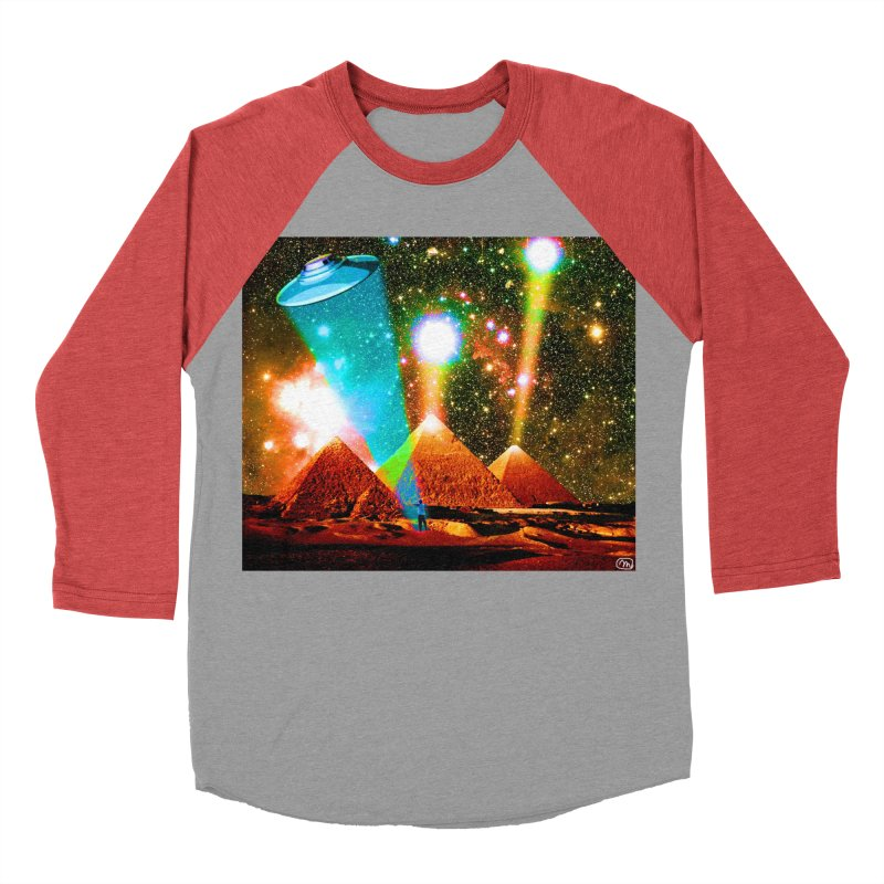 The Pyramids of Giza Aligning with Orion's Belt Women's Baseball Triblend Longsleeve T-Shirt by InspiredPsychedelics's Artist Shop