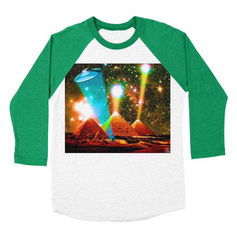 The Pyramids of Giza Aligning with Orion's Belt Men's Baseball Triblend Longsleeve T-Shirt by InspiredPsychedelics's Artist Shop