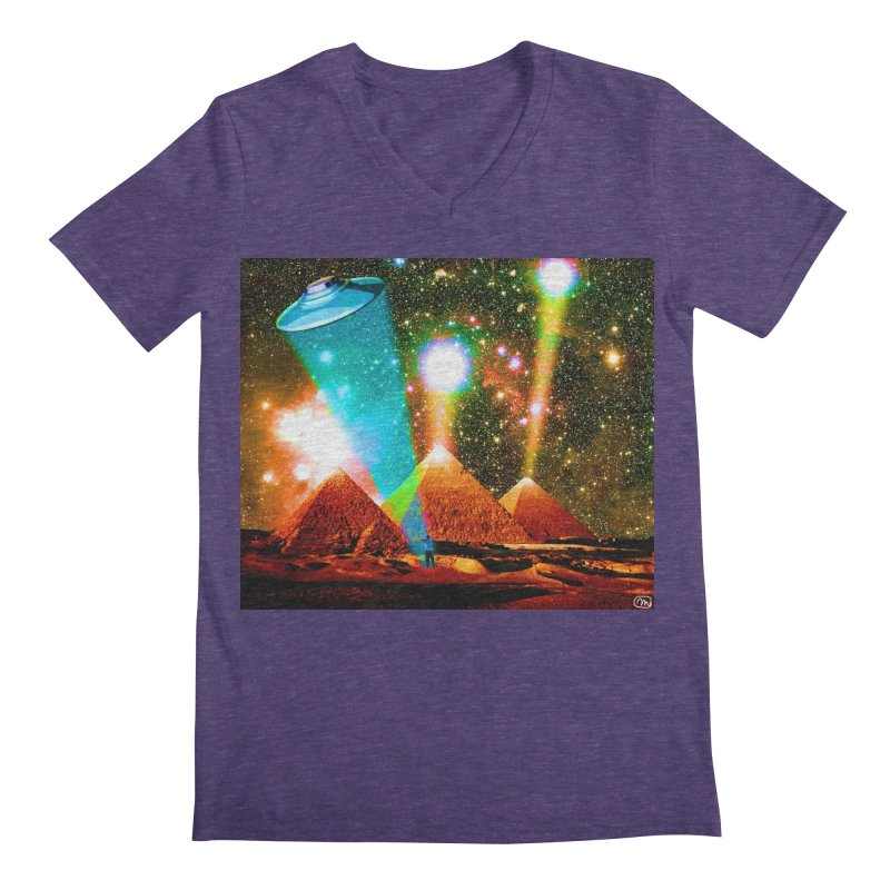 The Pyramids of Giza Aligning with Orion's Belt Men's Regular V-Neck by InspiredPsychedelics's Artist Shop