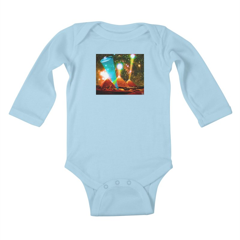The Pyramids of Giza Aligning with Orion's Belt Kids Baby Longsleeve Bodysuit by InspiredPsychedelics's Artist Shop