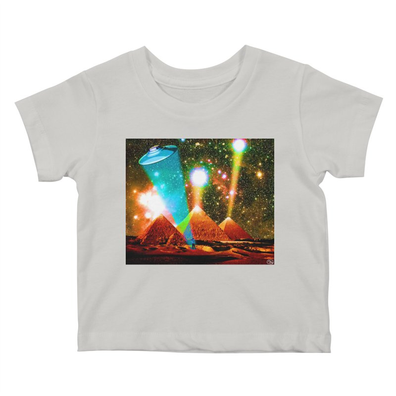 The Pyramids of Giza Aligning with Orion's Belt Kids Baby T-Shirt by InspiredPsychedelics's Artist Shop