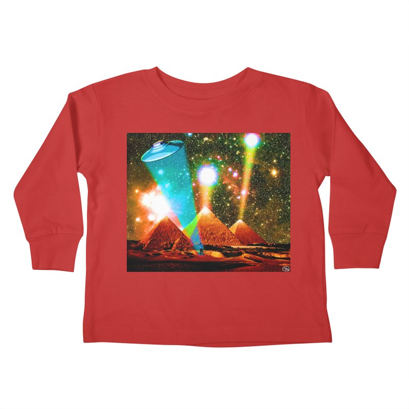 The Pyramids of Giza Aligning with Orion's Belt Kids Toddler Longsleeve T-Shirt by InspiredPsychedelics's Artist Shop
